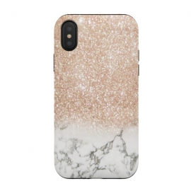 iPhone Xs / X  Marble & Stardust Ombre by ''CVogiatzi. (cvogiazi, cv, new, design, ombre, glitter, glam, minimal, beauty, girly, style, home, décor, trend, chic, rose, rose gold, modern, stars, photomontage)