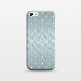 iPhone 5C  Turquoise Star Pattern by Andrea Haase