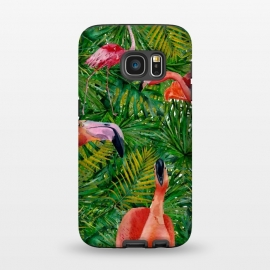 Galaxy S7  Flamingo Jungle Party by Utart