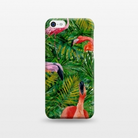 iPhone 5C  Flamingo Jungle Party by Utart