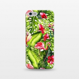 iPhone 5/5E/5s  Flower Jungle and Flamingo  by Utart