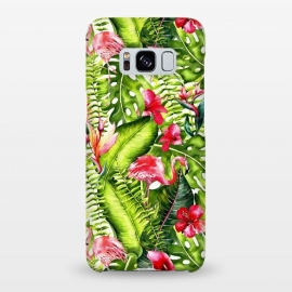 Galaxy S8+  Flower Jungle and Flamingo  by Utart