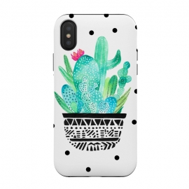 iPhone Xs / X  Pot Me A Cacti! Dots by Amaya Brydon