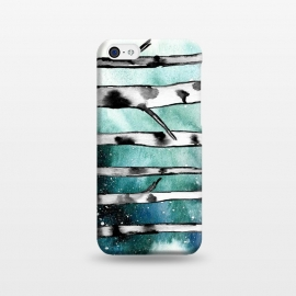 iPhone 5C  Abstract Birch Teal  by Amaya Brydon (teal,birch,abstract,nature)