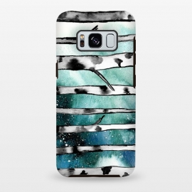 Galaxy S8 plus  Abstract Birch Teal  by  (teal,birch,abstract,nature)
