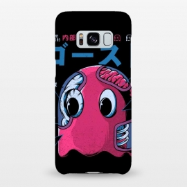 Galaxy S8+  Ghostzilla by Ilustrata (japan, japanese, manga, monster, food, kaiju, retro, vintage, pizza, king kong, NYC, city, terror, horror, cinema, movies, video games, games, godzilla, pacman, ghost, arcade, atari)
