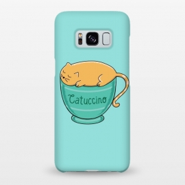 Galaxy S8+  Cattuccino by Coffee Man (cat, cats, cat lover, pet, pets, pet loevr, animals, animal, coffee, capuccino,coffee lover,cup,cute,adorable,fun,funny,kitty)