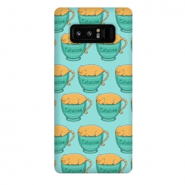 Galaxy Note 8  Catuccino Pattern by  (cat, cats,kitty,animals,animals lover,pet,ptes,coffee,capuccino,fun,funny,humor,cute,adorable)