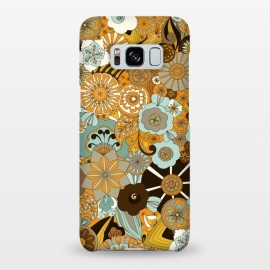 Galaxy S8+  Flowers, Flowers Everywhere Mustard and Blue by Paula Ohreen