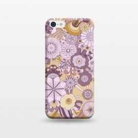 iPhone 5C  Flowers, Flowers Everywhere Purple and Mustard by Paula Ohreen