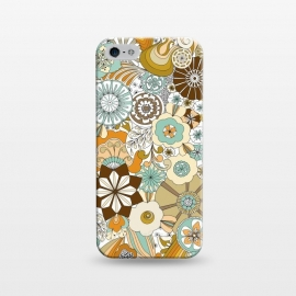 iPhone 5/5E/5s  Flowers, Flowers Everywhere Retro Colors by Paula Ohreen