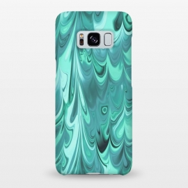Galaxy S8+  Faux Turquoise Marble by Andrea Haase