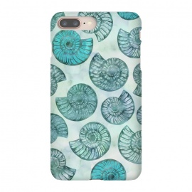 Teal Fossils And Ammonites by Andrea Haase