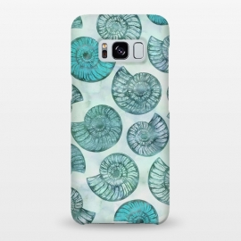 Galaxy S8+  Teal Fossils And Ammonites by Andrea Haase