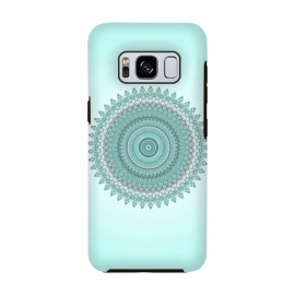 Galaxy S8  Magical Teal Mandala by Andrea Haase