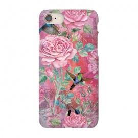 iPhone 8/7  Roses and Hummingbirds by Utart
