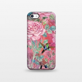 iPhone 5C  Roses and Hummingbirds by Utart