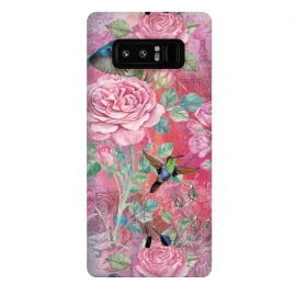 Galaxy Note 8  Roses and Hummingbirds by