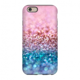 iPhone 6/6s  Teal and Rose Gold Glitter Dance by Utart
