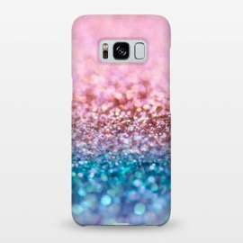Galaxy S8+  Teal and Rose Gold Glitter Dance by Utart