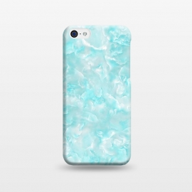 iPhone 5C  Trendy Blue Mother of Pearl Texture by Utart