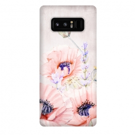 Galaxy Note 8  Pink Poppy Field by Utart