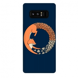 Galaxy Note 8  Fox Circle 2 by Coffee Man (fox,foxy,fun,funny,circle,geometric,fall,nature,landscape,floral,animal,animals,animal lover, pet, pets , pets lover, zorro)