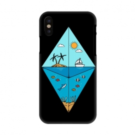 iPhone X  Diamond Landscape Black by Coffee Man