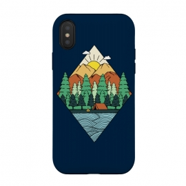 iPhone Xs / X  Mountain Diamond by Coffee Man