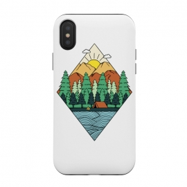 iPhone Xs/X  Mountain Diamond White by Coffee Man