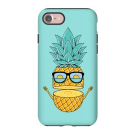 iPhone 8/7  Pineapple Sunglasses by Coffee Man (pineapple,beach,sea,marine,ocean,nature,landscape,summer,vacation,spring break,fruit,sun,sunset,fun,funny,cute,adorable,sunglasses)