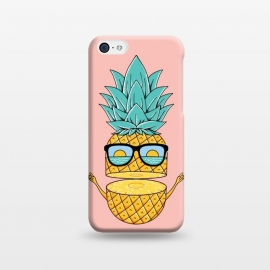 iPhone 5C  Pineapple Sunglasses Pink by Coffee Man (pineapple,sunglasses,summer,beach,ocean,nature,sea,landscape,sun,sunset,fun,funny,humor,adorable,explore,adventure,spring break)