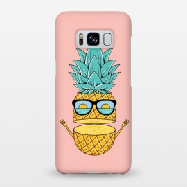 Galaxy S8+  Pineapple Sunglasses Pink by Coffee Man (pineapple,sunglasses,summer,beach,ocean,nature,sea,landscape,sun,sunset,fun,funny,humor,adorable,explore,adventure,spring break)