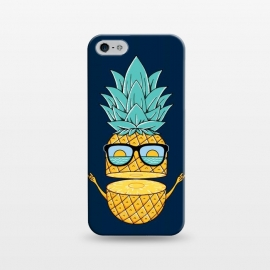 iPhone 5/5E/5s  Pineapple Sunglasses Blue by Coffee Man (pineapple, sunglasses,summer,landscape,beach,ocean,marine,sea,nature,explore,adventure,fruit,fun,funny,humor,cute,adorable,sun,sunset)