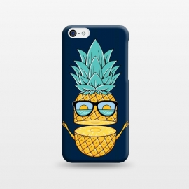 iPhone 5C  Pineapple Sunglasses Blue by Coffee Man (pineapple, sunglasses,summer,landscape,beach,ocean,marine,sea,nature,explore,adventure,fruit,fun,funny,humor,cute,adorable,sun,sunset)
