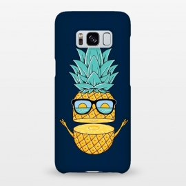 Galaxy S8+  Pineapple Sunglasses Blue by Coffee Man (pineapple, sunglasses,summer,landscape,beach,ocean,marine,sea,nature,explore,adventure,fruit,fun,funny,humor,cute,adorable,sun,sunset)