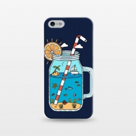 iPhone 5/5E/5s  Drink Landscape Blue by Coffee Man (drink, landscape, beach, sea, marine, ocean, fish, shark, summer, spring break,sun, sunset,creative, outdoors,adventure,surreal)
