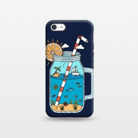 iPhone 5C  Drink Landscape Blue by Coffee Man