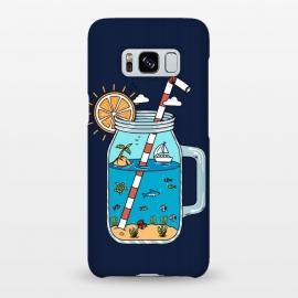 Galaxy S8+  Drink Landscape Blue by Coffee Man (drink, landscape, beach, sea, marine, ocean, fish, shark, summer, spring break,sun, sunset,creative, outdoors,adventure,surreal)