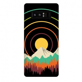 Galaxy Note 8  Lines Landscape by Coffee Man (nature, landscape, forest, mountain, adventure,circles, colorful,sun, sunset,minimalist, minimalism,tree,vacation, camping, camp,modern)