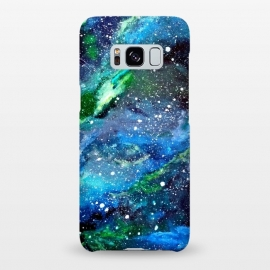 Galaxy S8+  Galaxy in Blue and Green by Gringoface Designs