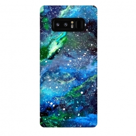 Galaxy Note 8  Galaxy in Blue and Green by