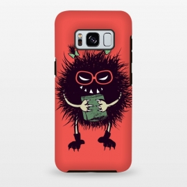 Galaxy S8 plus  Geek Evil Bug Character Loves Reading by