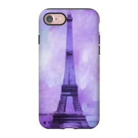 iPhone 8/7  Purple Paris Watercolor  by Andrea Haase