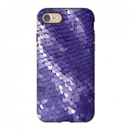 iPhone 8/7  Shiny Purple Sequins  by Andrea Haase (sequin, purple, glitter, glamour, precious, glamorous, shiny,sparkle, luxury, elegant, feminine, exclusive,metal, beautiful,  shimmering, sparkle, extravagant, exquisite, fancy, fashionable,gift)