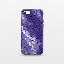 iPhone 5C  Shiny Purple Sequins  by Andrea Haase
