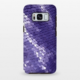 Galaxy S8+  Shiny Purple Sequins  by Andrea Haase