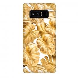 Galaxy Note 8  Aloha Gold Monstera Jungle by
