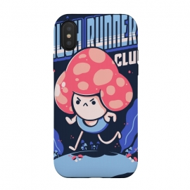 iPhone Xs / X  Mushrunners by  (run, runners, mushroom, club, sport, exercise, wild, gym, grass, typo, lettering)