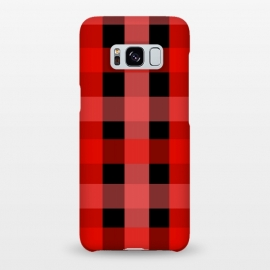 Galaxy S8+  red black checks by MALLIKA